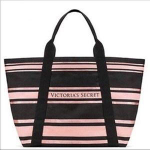 NWT Big Victoria's Secret tote bag striped